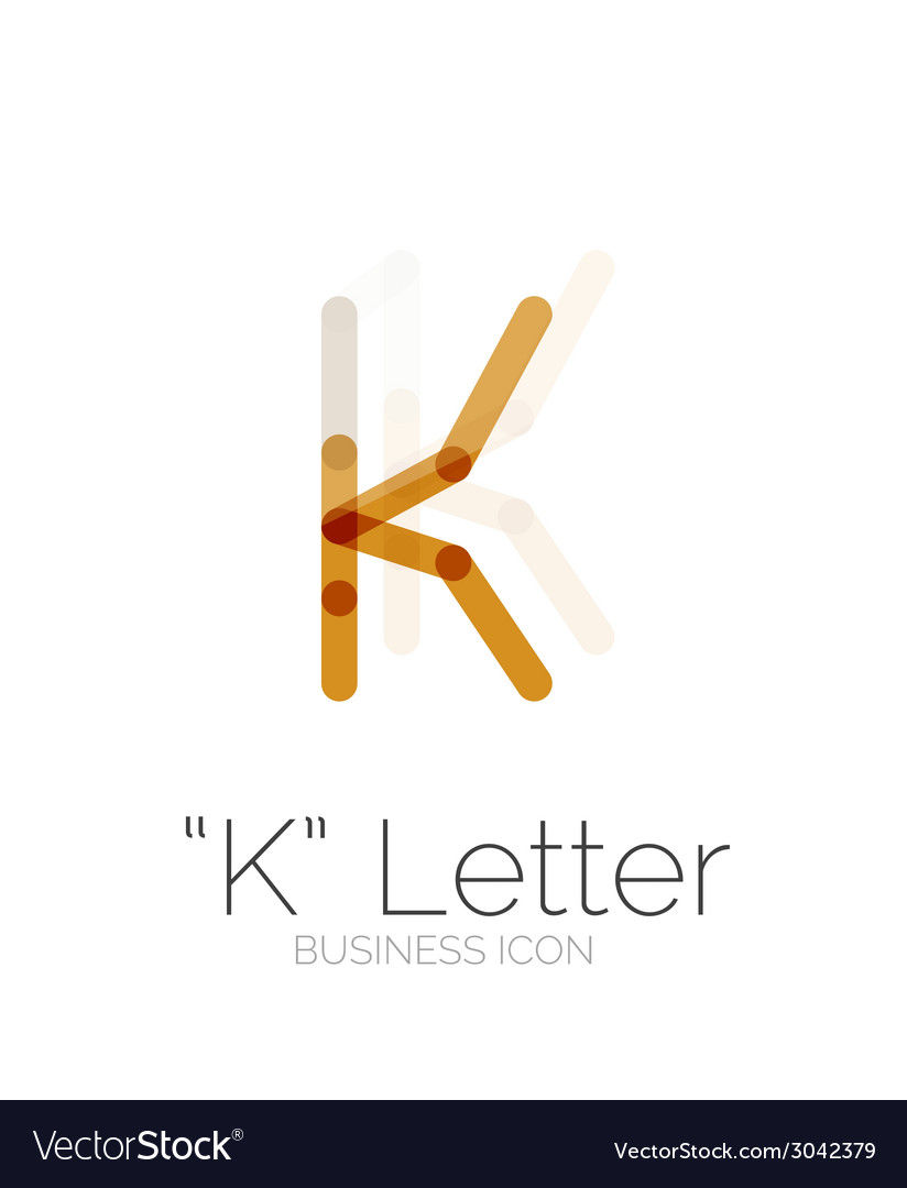 K letter logo minimal line design vector | Price: 1 Credit (USD $1)