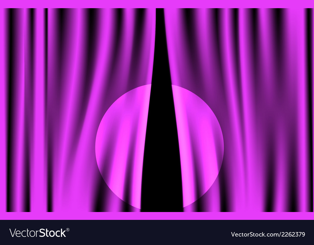 Luxury creases purple curtain with spotlight vector | Price: 1 Credit (USD $1)