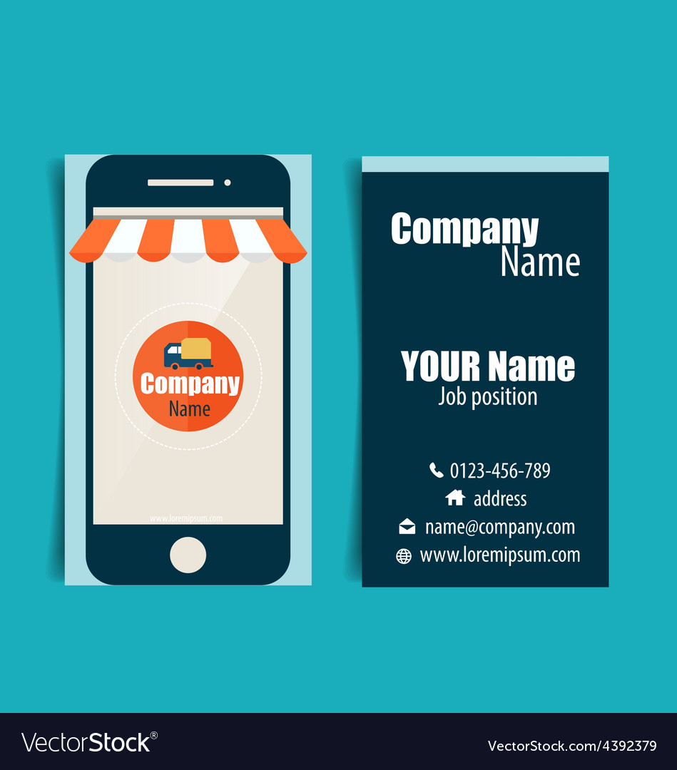 Modern business card template with business vector | Price: 1 Credit (USD $1)
