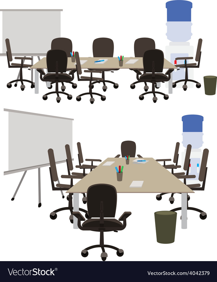 Office space to discuss working ideas vector | Price: 1 Credit (USD $1)