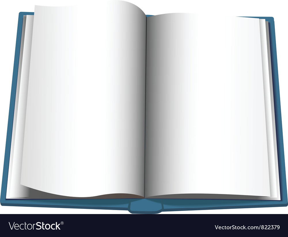 Open book page vector | Price: 1 Credit (USD $1)
