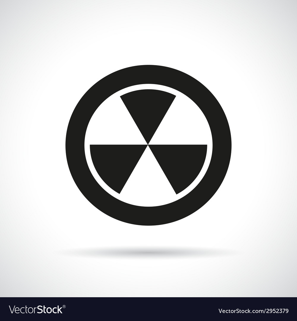 Radiation hazard symbol vector | Price: 1 Credit (USD $1)