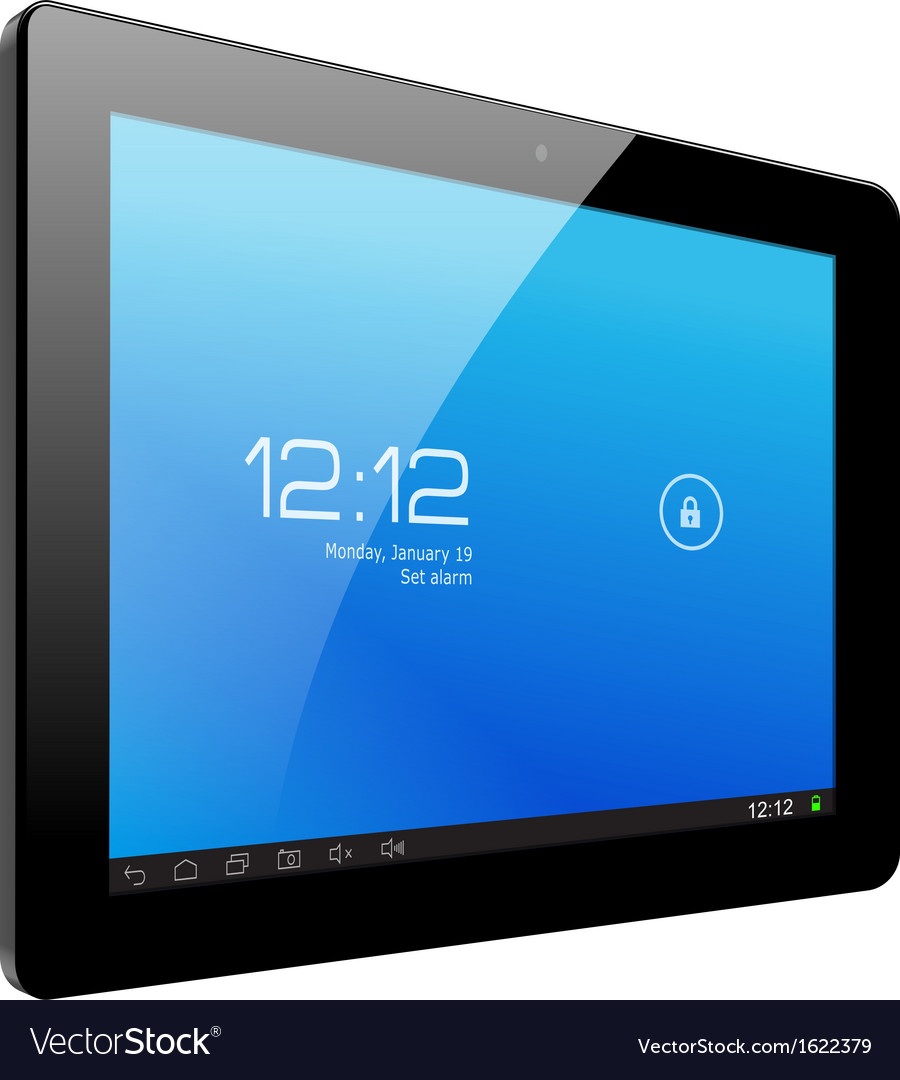 Realistic tablet pc computer vector | Price: 1 Credit (USD $1)