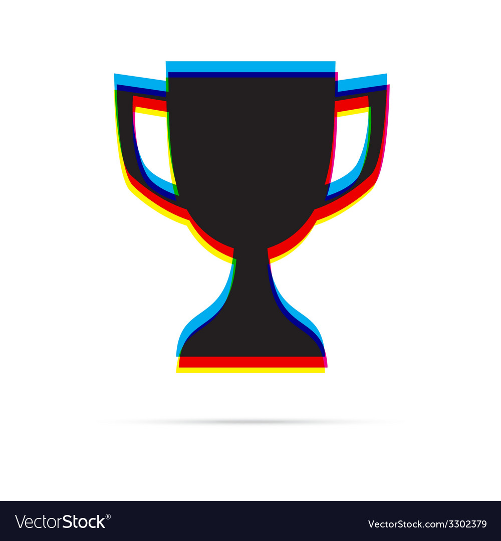 Reward icon with shadow vector | Price: 1 Credit (USD $1)
