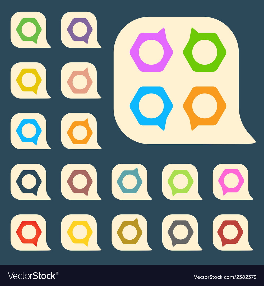 Set of colored icons to indicate the empty space vector | Price: 1 Credit (USD $1)