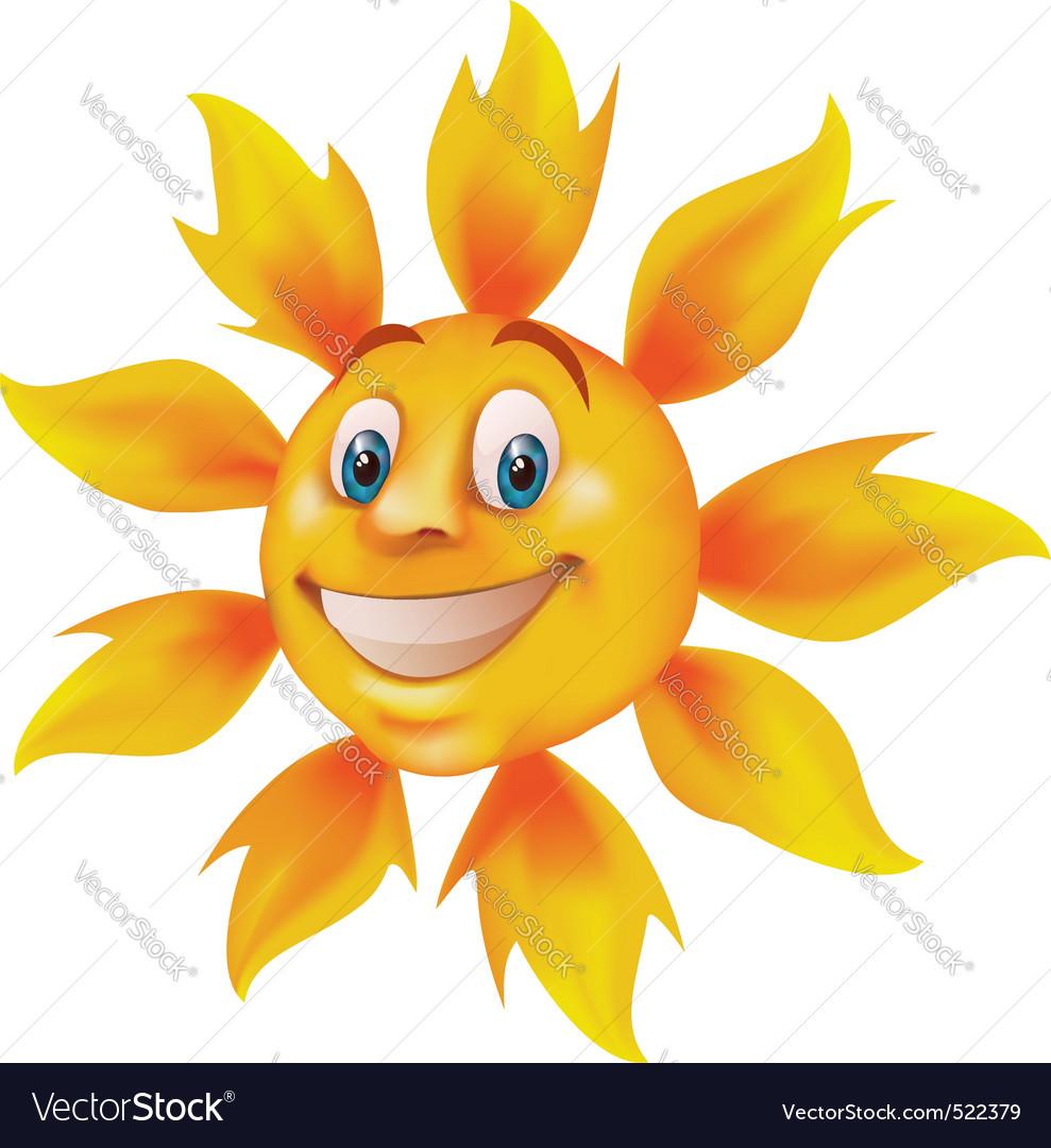 Smiling cartoon sun vector | Price: 3 Credit (USD $3)