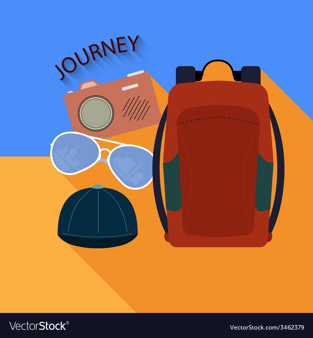 Things to travel vector | Price: 1 Credit (USD $1)