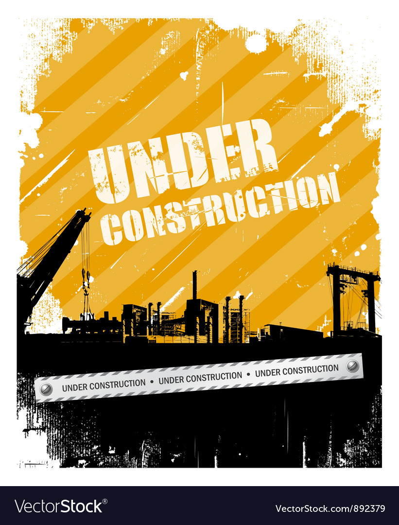 Vintage grunge under construction background vector | Price: 1 Credit (USD $1)