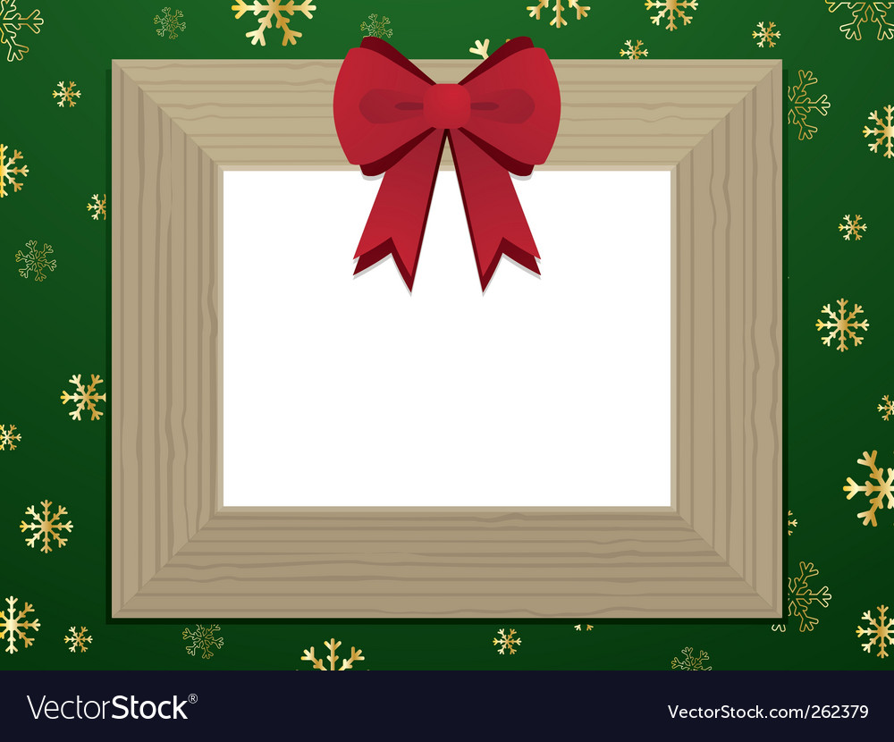 Wooden christmas picture frame vector | Price: 1 Credit (USD $1)