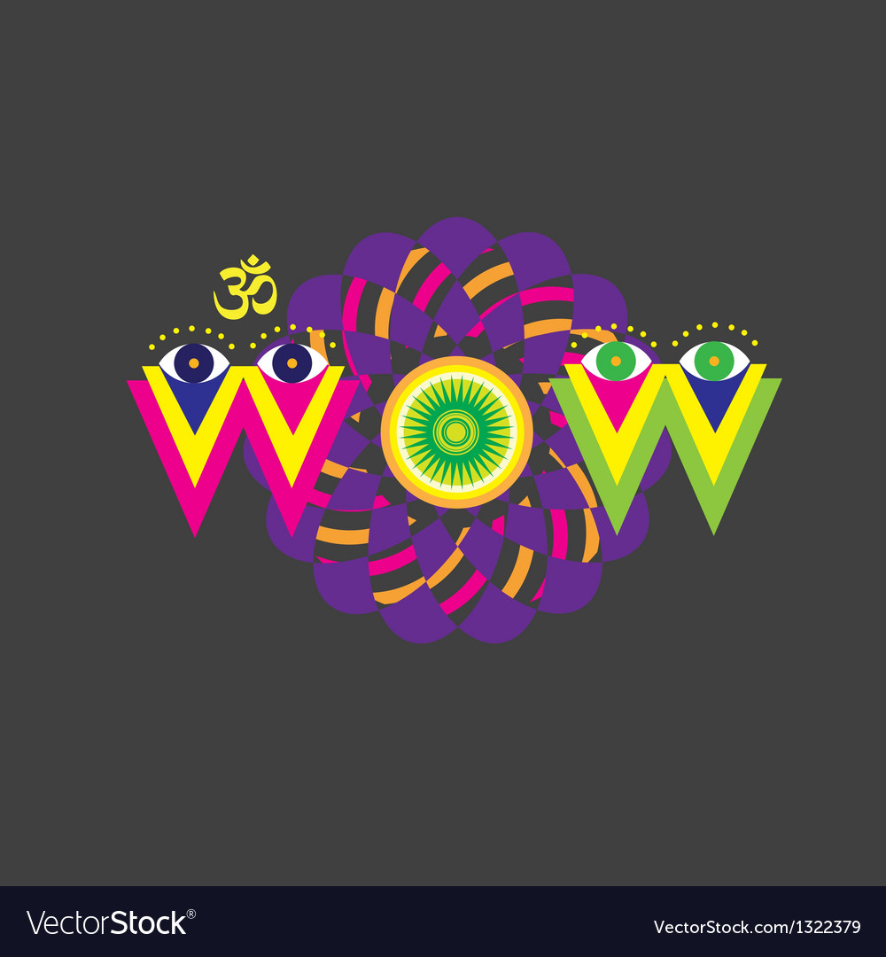 Wow art poster vector | Price: 1 Credit (USD $1)