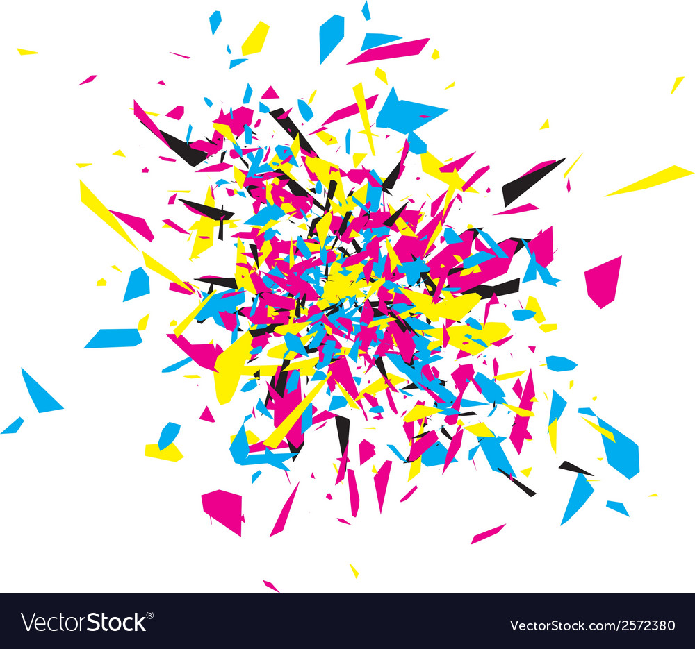 Cmyk abstract explosion vector | Price: 1 Credit (USD $1)