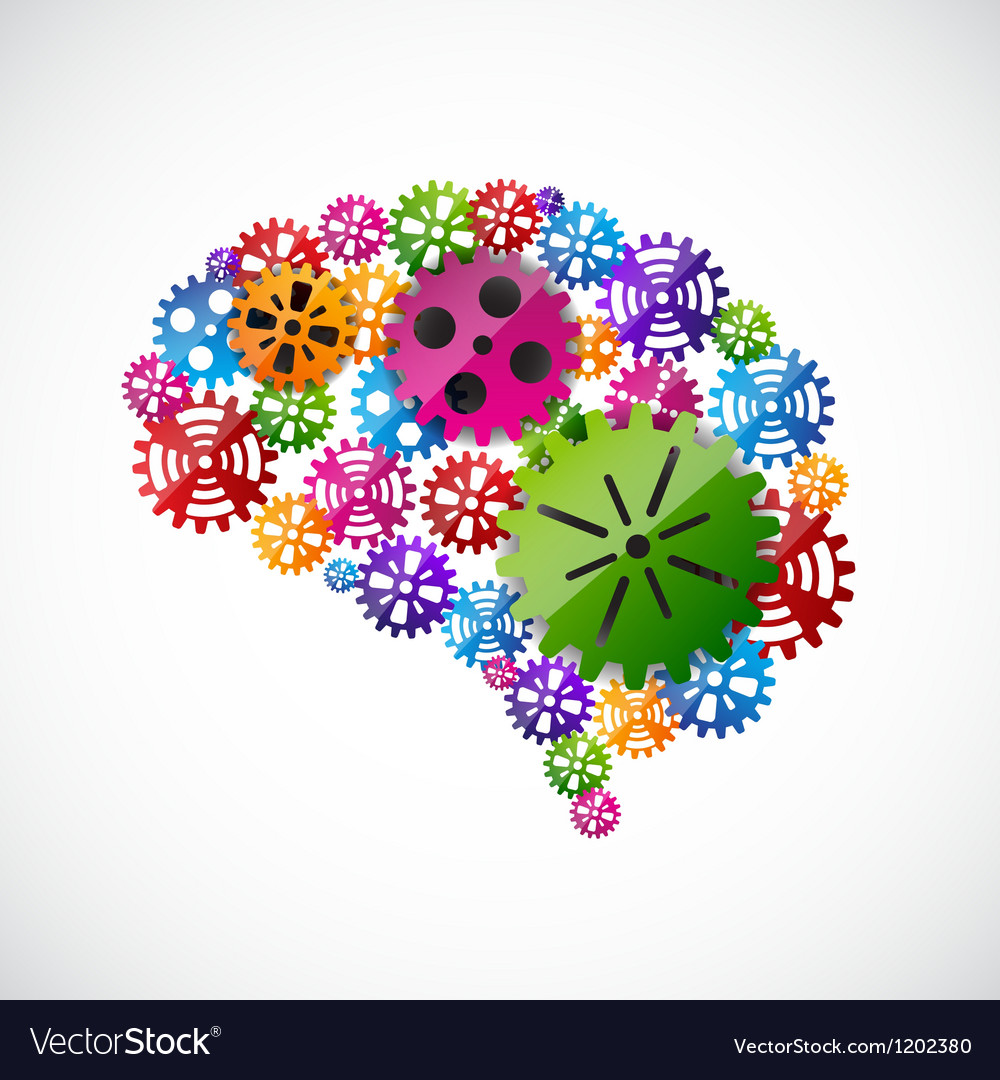 Gears mind vector | Price: 1 Credit (USD $1)
