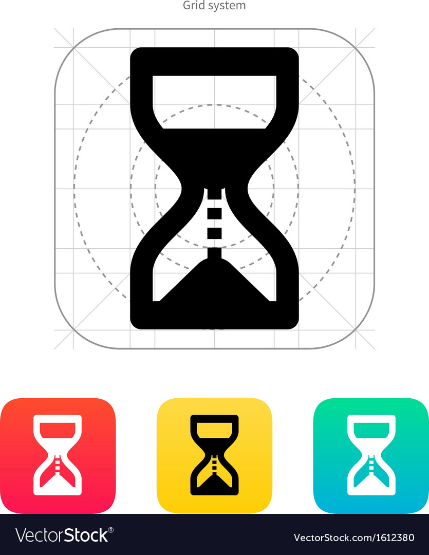 Hourglass is ticking icon vector | Price: 1 Credit (USD $1)