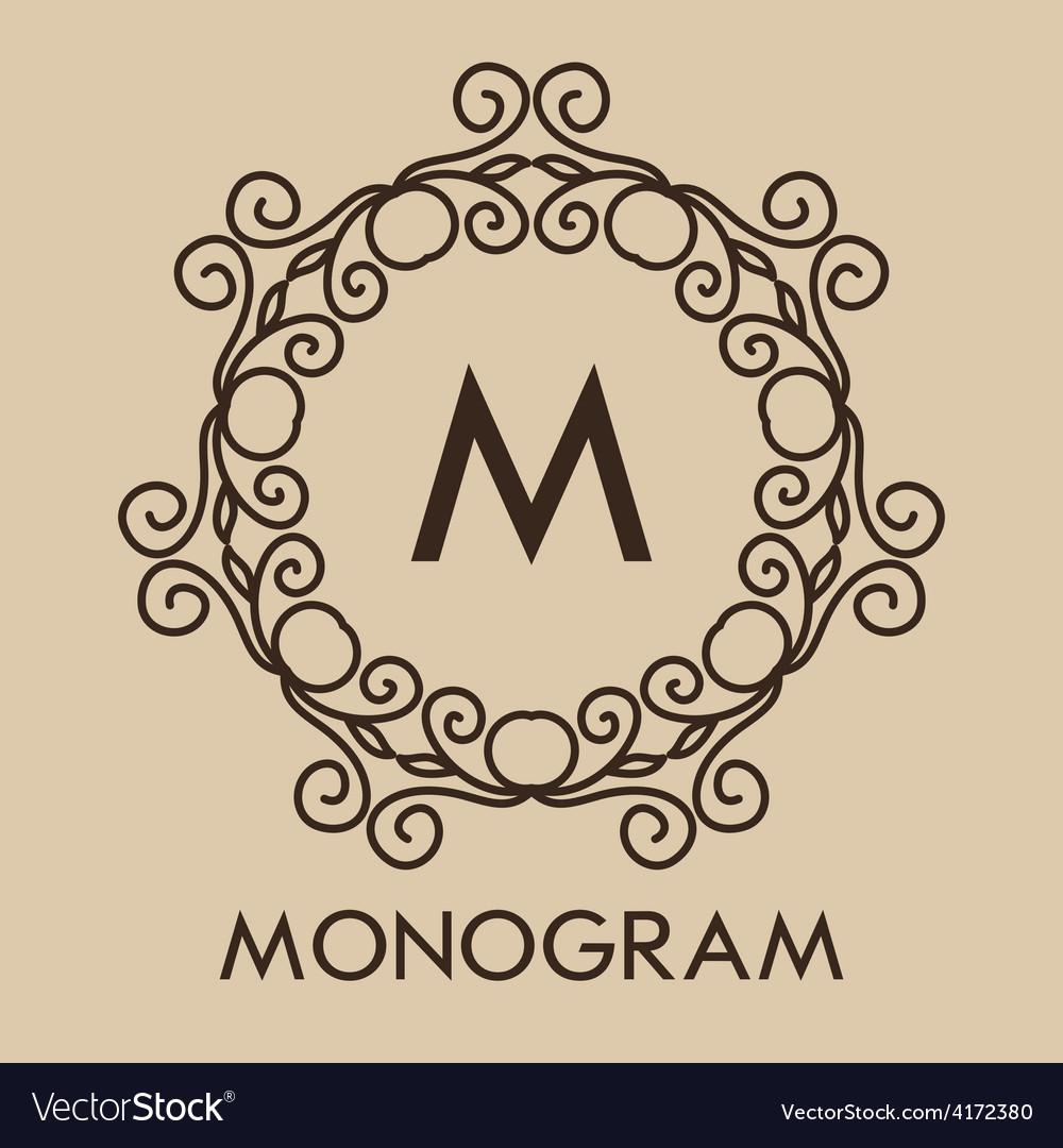 Luxurysimple and elegant monochrome monogram vector