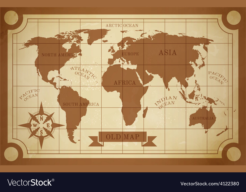 Old map vector | Price: 1 Credit (USD $1)