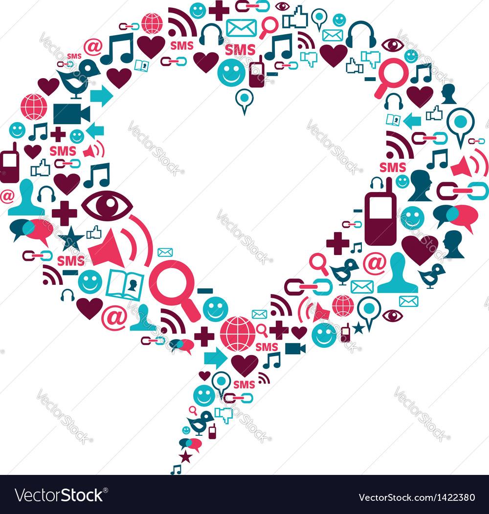 Social media heart bubble vector | Price: 1 Credit (USD $1)