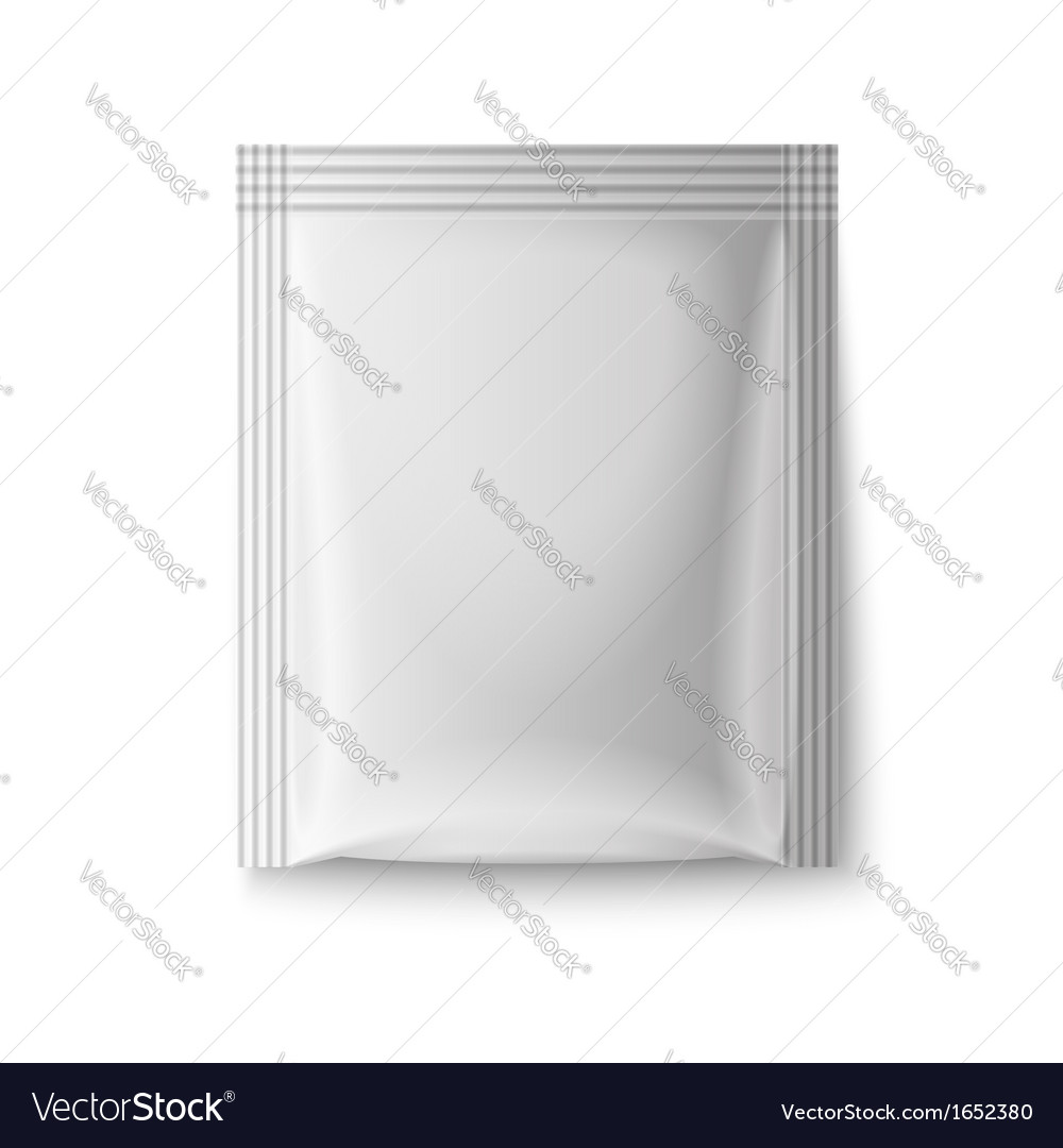 White paper sachet bag vector | Price: 1 Credit (USD $1)