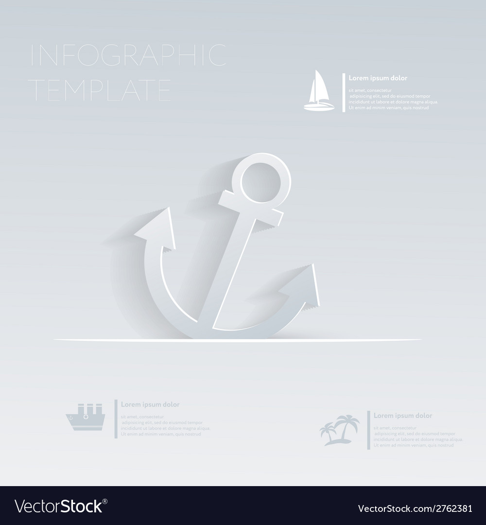 Anchor theme holidays template infographic or vector | Price: 1 Credit (USD $1)