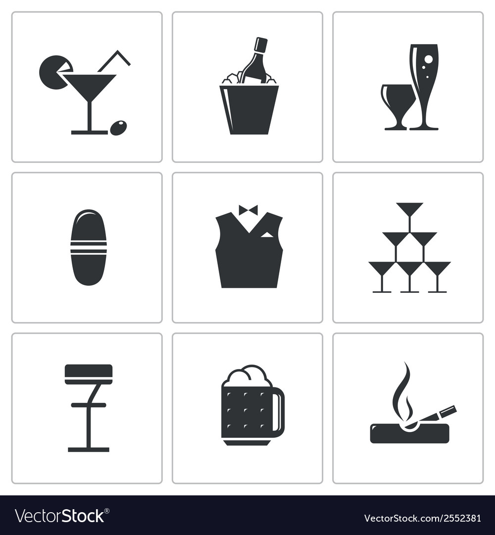 Bar icons set vector | Price: 1 Credit (USD $1)