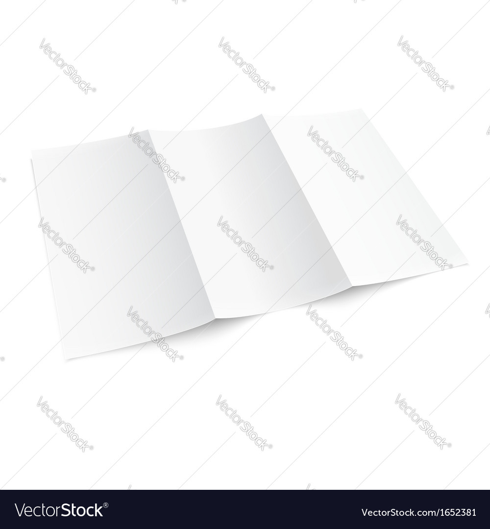 Blank trifold paper brochure vector | Price: 1 Credit (USD $1)