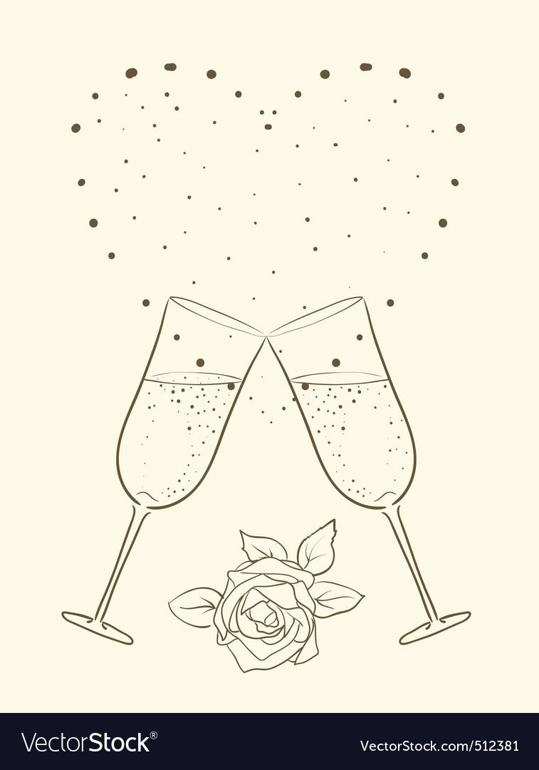 Champagne vector | Price: 1 Credit (USD $1)
