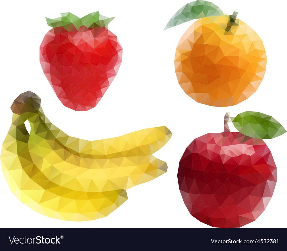 Fruit polygon art vector | Price: 1 Credit (USD $1)