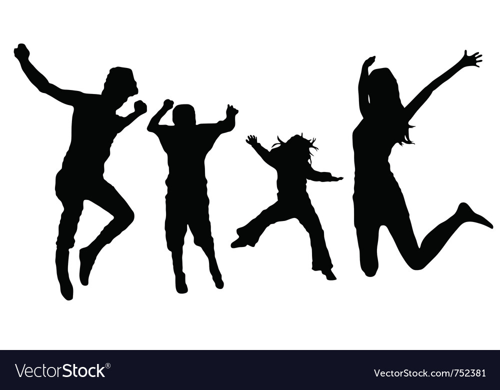 Jumping family vector | Price: 1 Credit (USD $1)