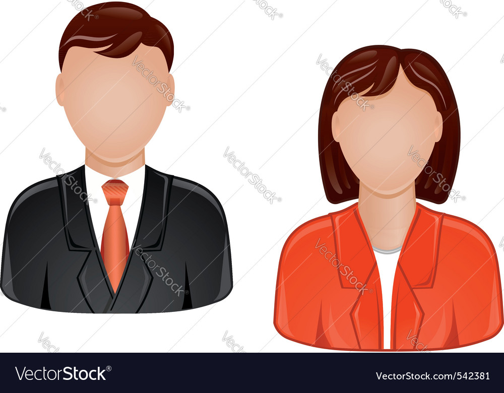 Man and woman avatars vector | Price: 1 Credit (USD $1)