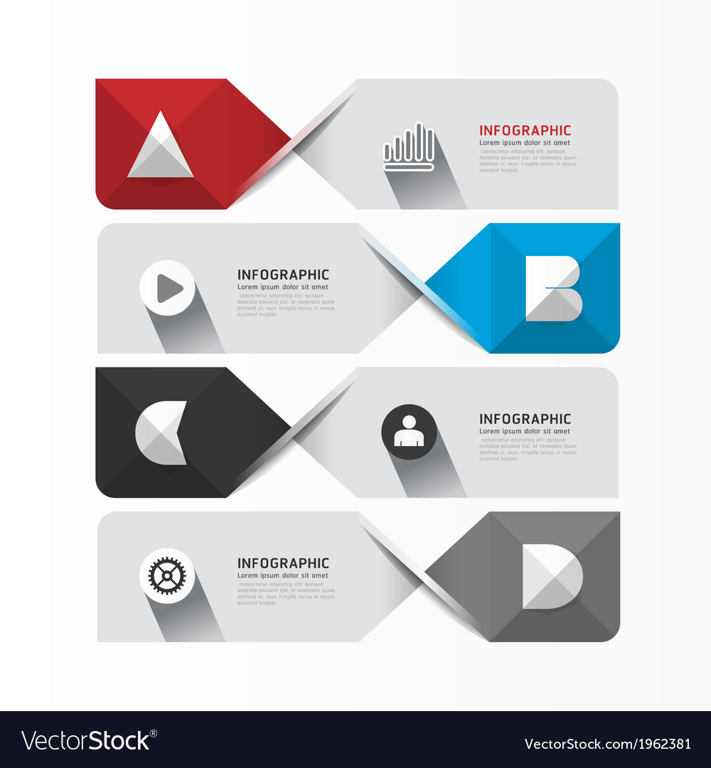 Modern geometric infographics design template vector | Price: 1 Credit (USD $1)