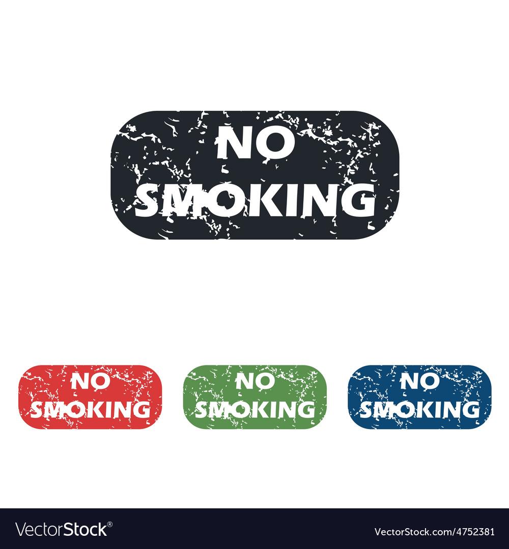 No smoking grunge icon set vector | Price: 1 Credit (USD $1)