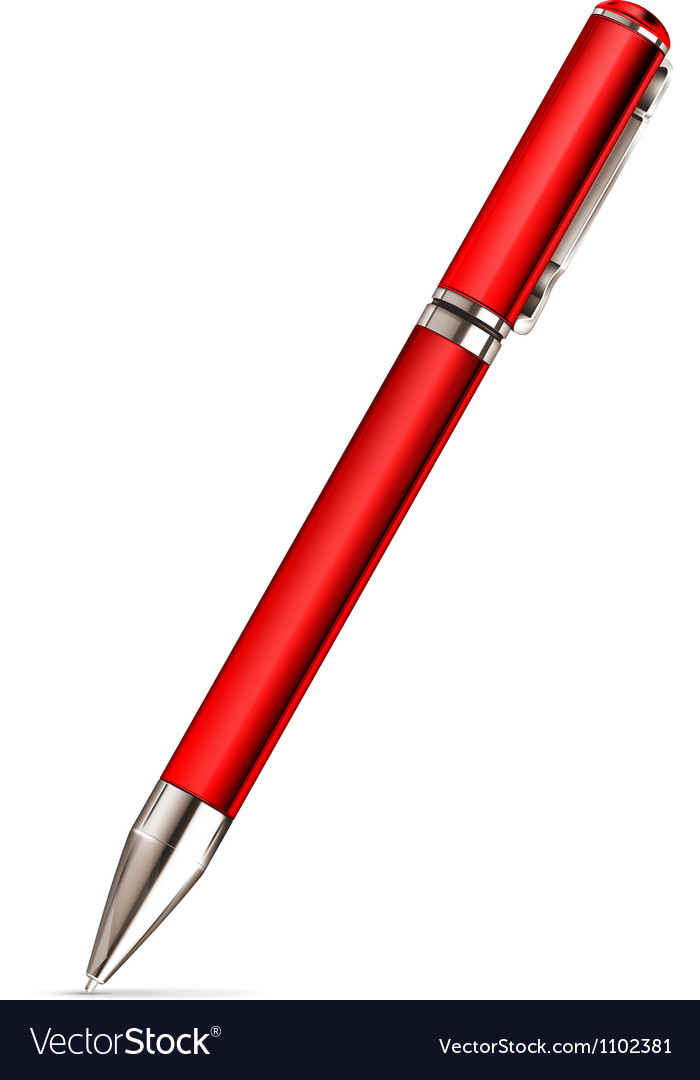 Red pen vector | Price: 1 Credit (USD $1)
