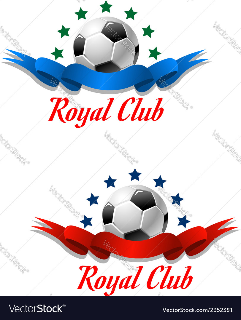 Royal club soccer championship emblem vector | Price: 1 Credit (USD $1)