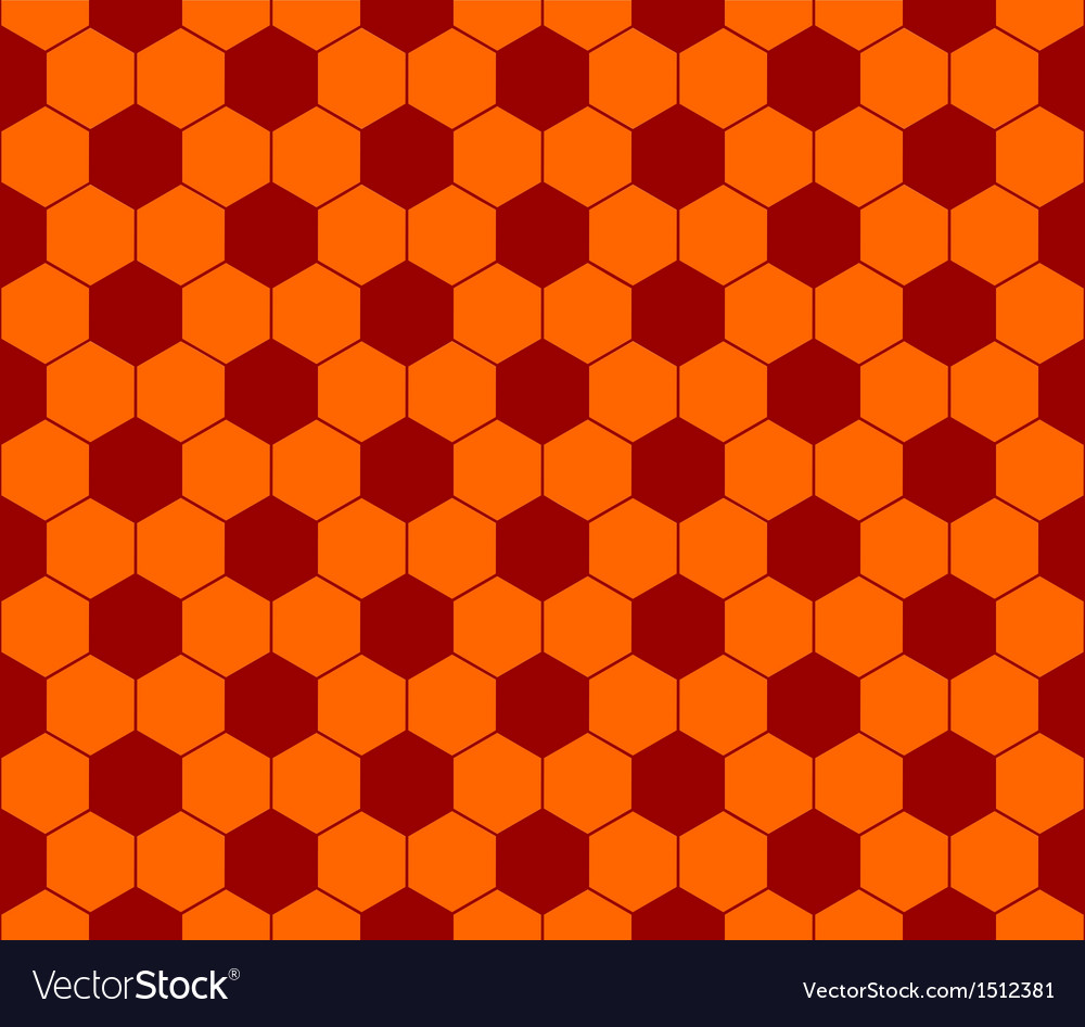Seamless football pattern red orange eps 10 vector | Price: 1 Credit (USD $1)