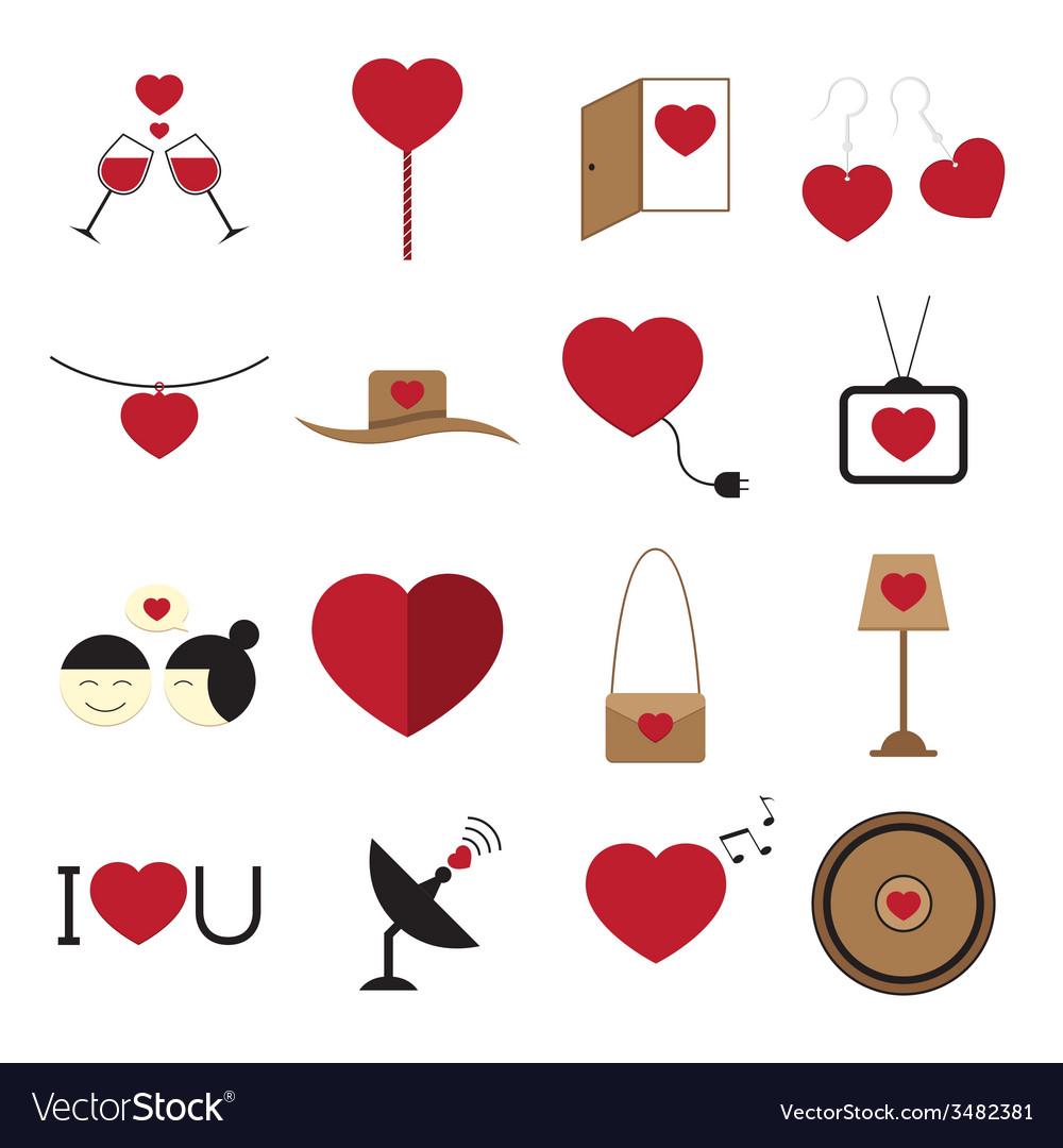 Valentine icon set vector   Price: 1 Credit (USD $1)