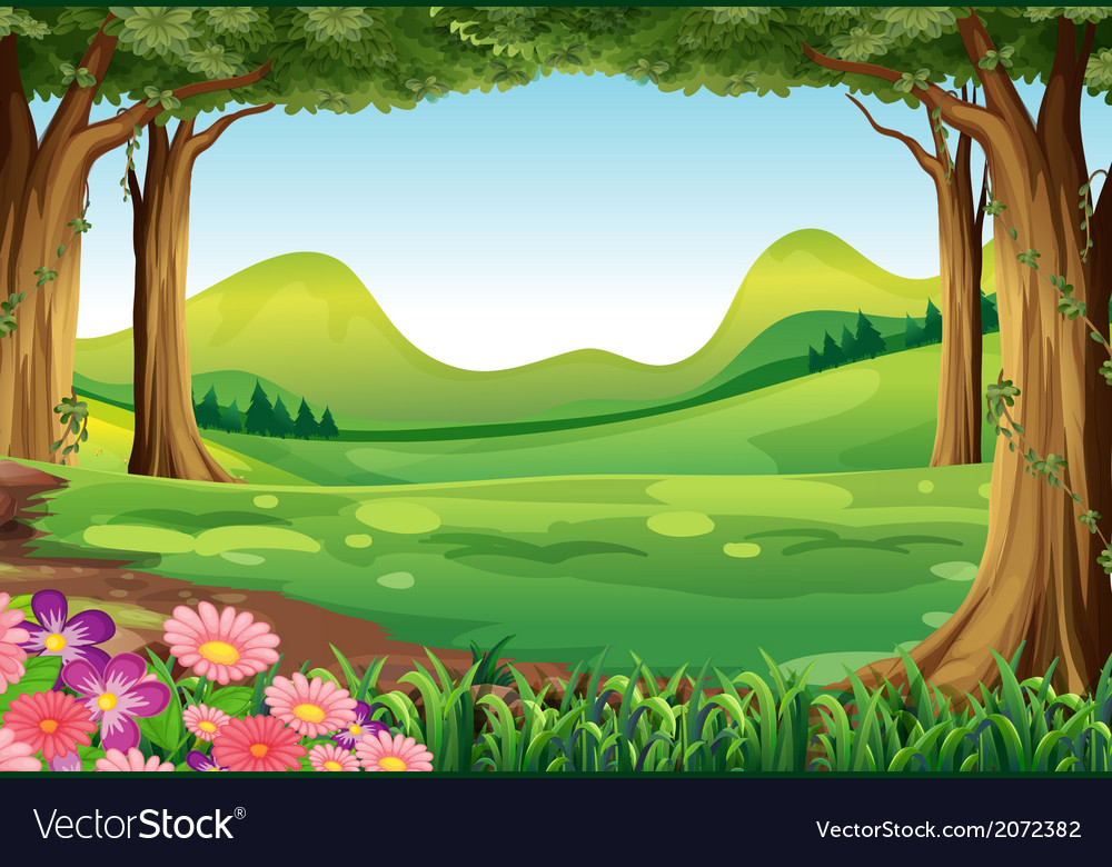 A green forest vector | Price: 1 Credit (USD $1)