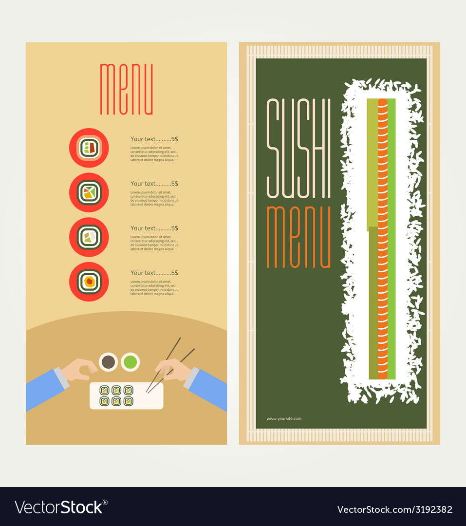 The abstract image of a menu with sushi vector | Price: 1 Credit (USD $1)