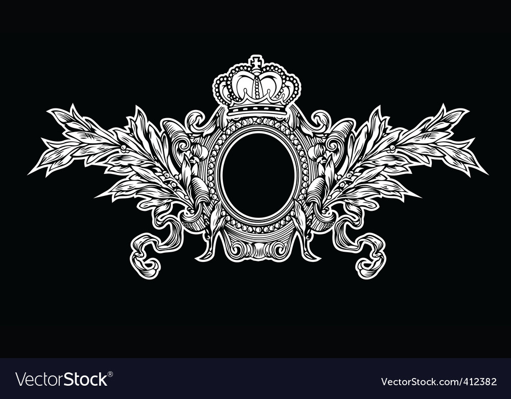 Antique crown royal frame vector | Price: 1 Credit (USD $1)