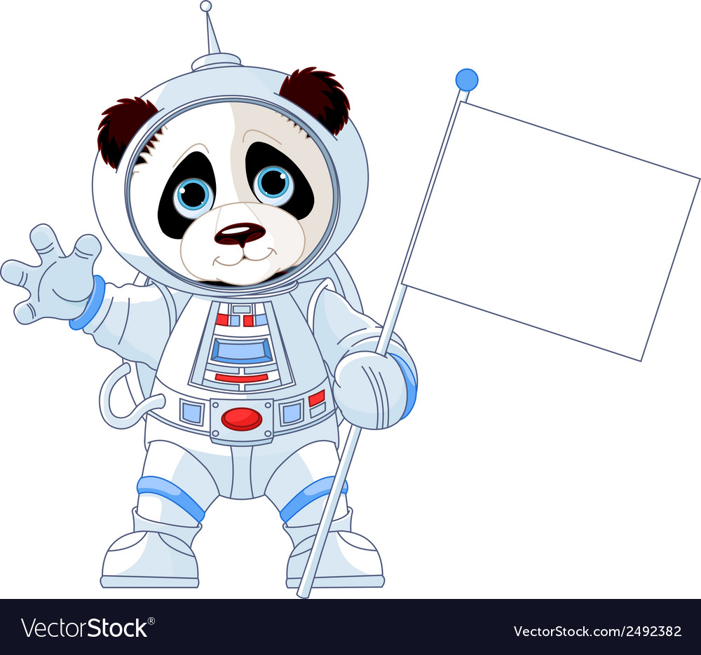 Astronaut panda vector | Price: 1 Credit (USD $1)