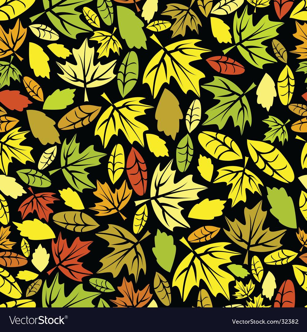 Autumn leaf colored seamless vector