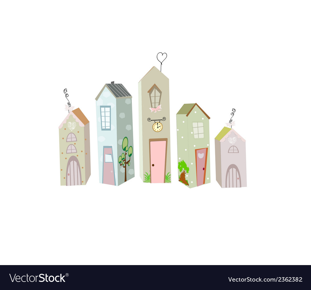 Cute little house vector | Price: 1 Credit (USD $1)