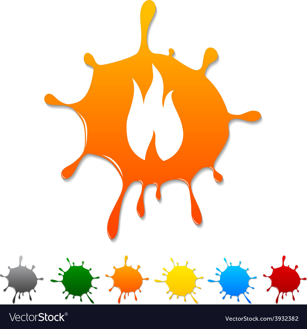Fire blot vector | Price: 1 Credit (USD $1)
