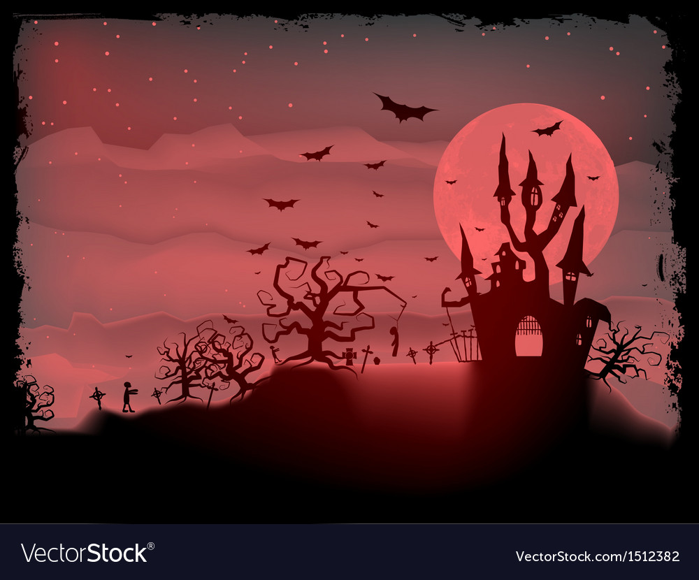 Halloween poster with zombie eps 10 vector | Price: 1 Credit (USD $1)