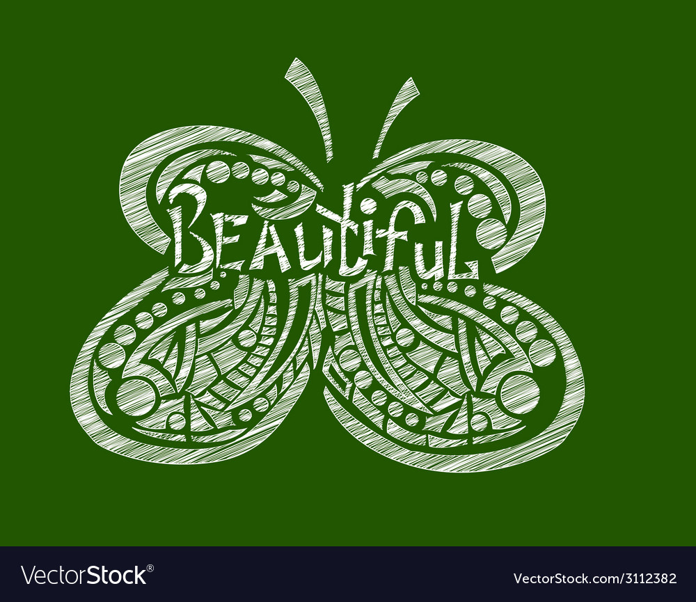 Hand drawn butterfly vector | Price: 1 Credit (USD $1)