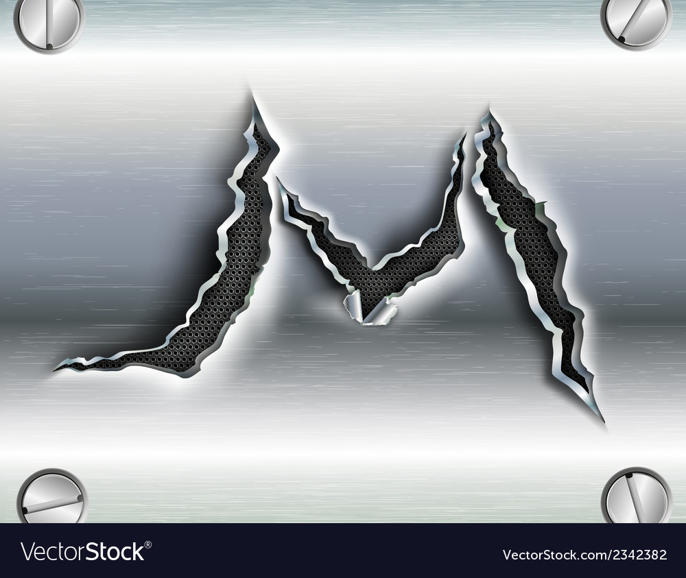Letter cut out in metal vector | Price: 1 Credit (USD $1)