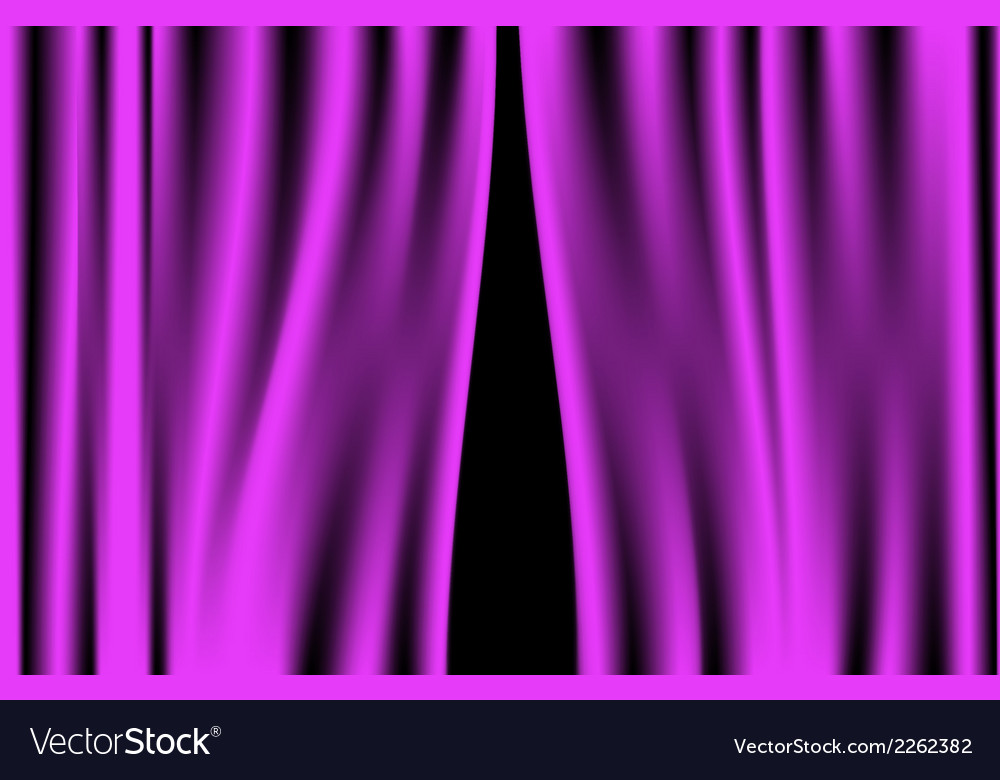 Luxury creases purple curtain vector | Price: 1 Credit (USD $1)