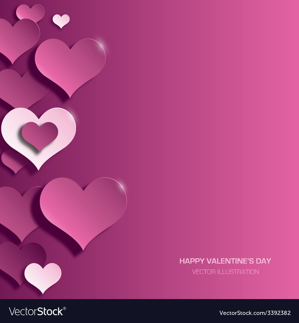 Modern bright valentines day background vector | Price: 1 Credit (USD $1)