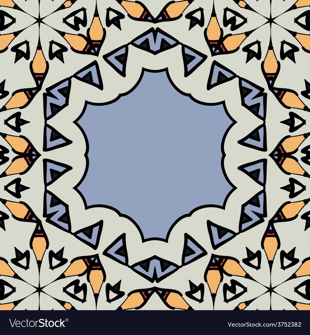 Ornamental frame border with copyspace mandala vector | Price: 1 Credit (USD $1)