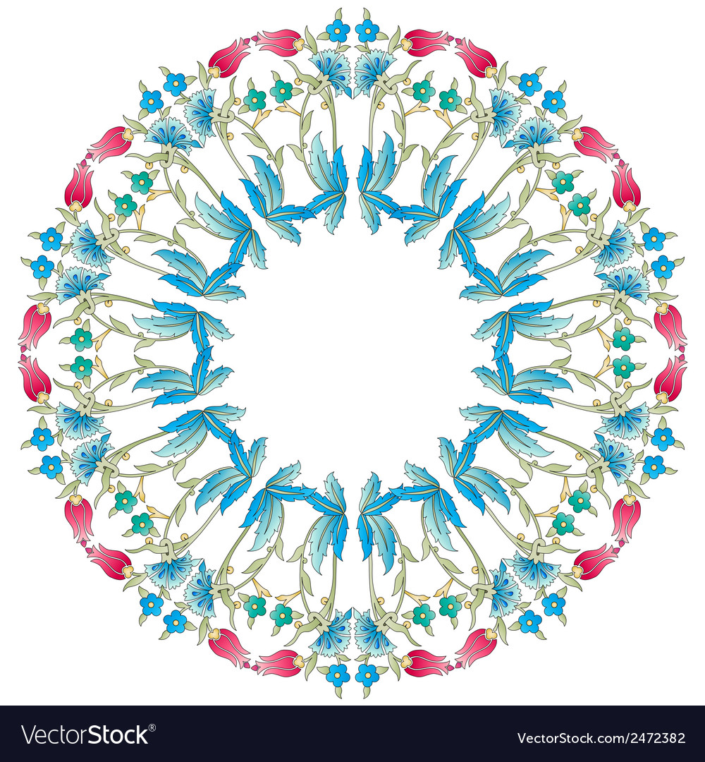 Ottoman motifs blue design series of fifty six vector | Price: 1 Credit (USD $1)