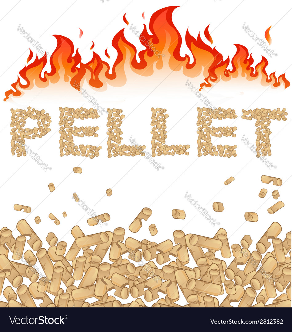 Pellet background with fire on white vector | Price: 1 Credit (USD $1)