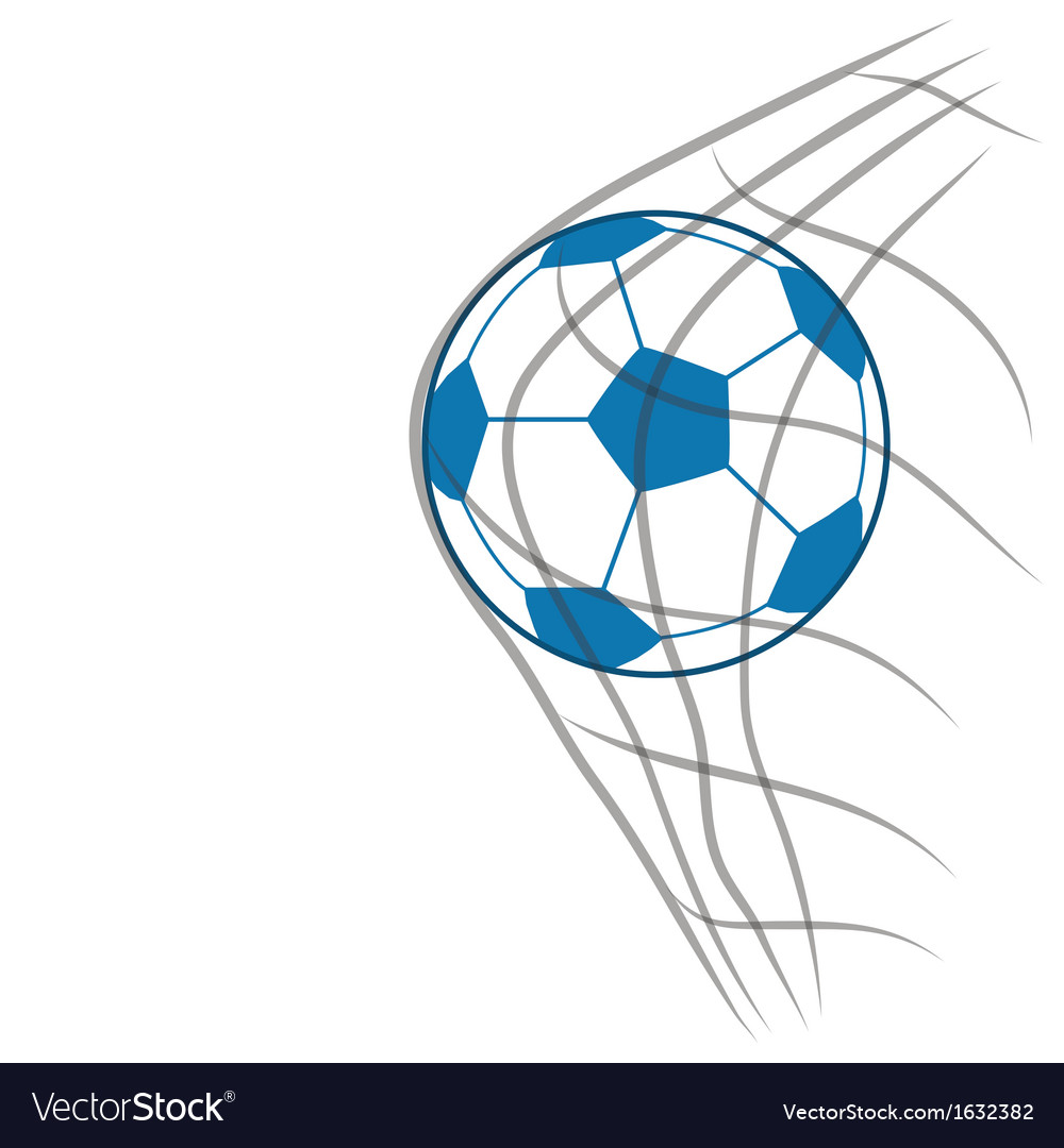 Soccer ball with net vector | Price: 1 Credit (USD $1)